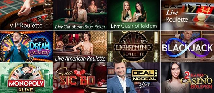 Лайв игры Casino X